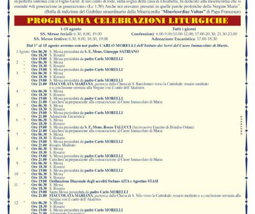 tutto pronto a Rossano per i festeggiamenti in onore di Maria S.S. Achiropita