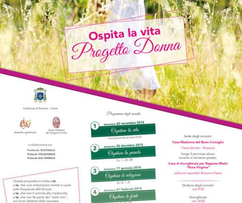 Progetto Donna – a Rossano dal 22 Novembre