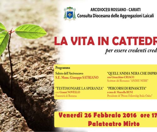 La Vita in Cattedra – Venerdì il secondo appuntamento