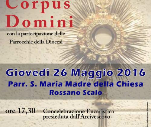 Corpus Domini – Giovedì la Processione diocesana