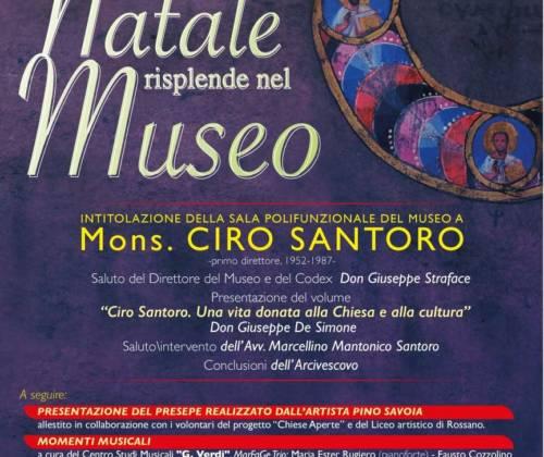 Intitolazione della Sala Polifunzionale del Museo a Mons. Ciro Santoro