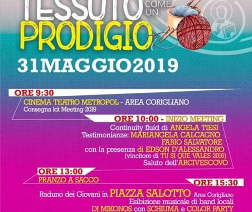 """Meeting Giovani 2019 """"Tessuto come un prodigio"""""""