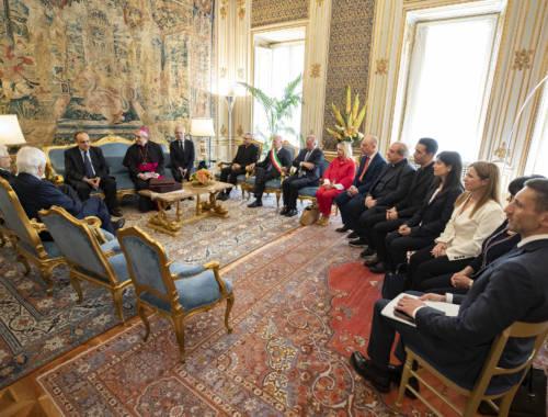 """Mons. Satriano: """"Grazie Presidente Mattarella per la sua testimonianza di Capo dello Stato. Ci venga a trovare per sfogliare dal vivo il Codex"""""""