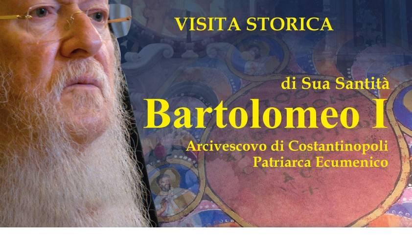 """""""Sulla via della comunione e della gioia""""                          Visita storica di S. S. Bartolomeo I, Arcivescovo di Costantinopoli, Patriarca Ecumenico e Cerimonia dello sfoglio del Codex"""