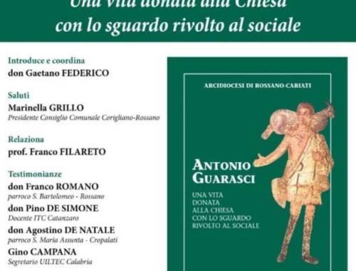 Presentazione del libro su mons. Antonio Guarasci