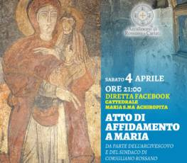 Atto di Affidamento a Maria e visita comuni della Diocesi Croce San Francesco di Paola