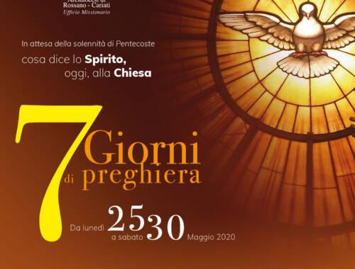 7° giorno del settenario in preparazione alla Pentecoste