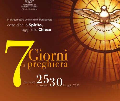 2° giorno del settenario in preparazione alla Pentecoste.