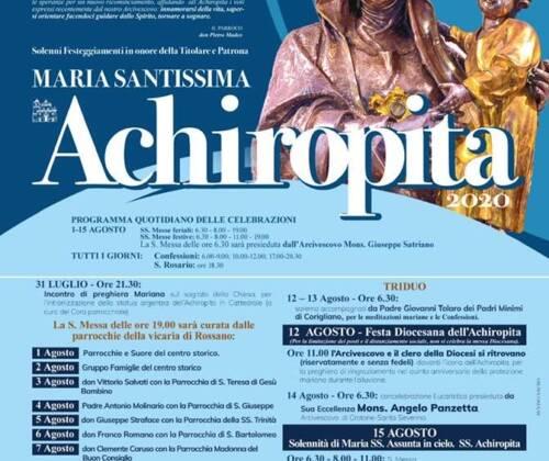 Solennità Maria SS Achiropita