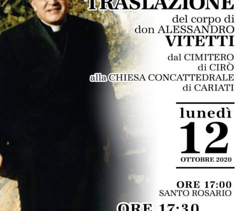 Traslazione del corpo di don Alessandro Vitetti