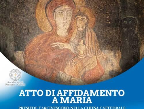 Sabato 14 novembre Atto di Affidamento a Maria