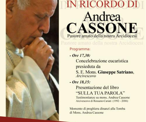 L'Arcidiocesi ricorda Mons. Andrea Cassone