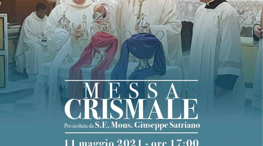 Sarà celebrata l'11 Maggio la Messa Crismale