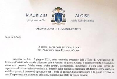 Sua Ecc. Mons. Aloise in data odierna ha firmato il decreto con cui conferma tutti i titolari di singoli incarichi