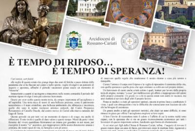 È TEMPO DI RIPOSO…È TEMPO DI SPERANZA! – Messaggio ai turisti 2021